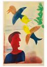 Hendrik Nic.Werkman (1882-1945 -  De taal der vogelen, 1943 - Postkaart -  2C0768-1