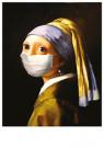 René Jacobs (1969)  -  Meisje met mondkapje - Postkaart -  2C0896-1