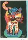 Karel Appel (1921-2006)  -  Tigre uit de serie 'Appel's circus', 1978 - Postkaart -  A0761-1