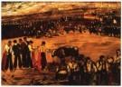 J. Gutierrez-Solana (1886-1945 -  La plaza - Postkaart -  A10018-1