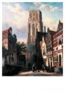 Cornelis Springer (1817-1891)  -  De lange torenstr. - Postkaart -  A10047-1