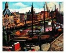 Charlie Toorop (1891-1955)  -  Leuvenhaven Rotterdam, 1926 - Postkaart -  A10051-1