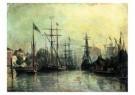 Johan B. Jongkind (1819-1891)  -  Le port Rotterda - Postkaart -  A10053-1