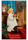 Anonymus  -  Kerstman met cadeaus achter het raam - Postkaart -  A100540-1
