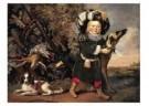 Pieter van Noort (1622/25-1672 -  Jachtstilleven met kind - Postkaart -  A10068-1