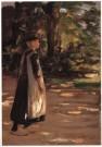 Max Liebermann (1847-1935)  -  Lopend Meisje - Postkaart -  A10092-1
