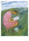Charlotte Salomon (1917-1943)  -  Charlotte leest - Postkaart -  A10115-1