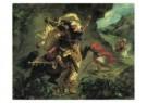 Eugene Delacroix (1798-1863)  -  De tijgerjacht - Chasse au tigre, 1854 - Postkaart -  A10140-1