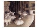 Edgar Degas (1834-1917)  -  Ballet repetitie op het toneel - repetition d'un b - Postkaart -  A10145-1
