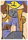 Paul Klee (1879-1940)  -  Girl with a Yellow Hat - Postkaart -  A101568-1