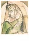 Leo Gestel (1881-1941)  -  Damesportret - Postkaart -  A10176-1