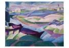 Leo Gestel (1881-1941)  -  Landschap met bootje - Postkaart -  A10178-1