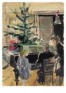 Claire Bonebakker (1904-1979)  -  Kerstfeest - Postkaart -  A10197-1