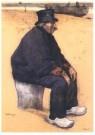 Willy Sluiter (1873-1949)  -  Portret Dirk-Oom - Postkaart -  A10268-1