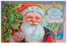 Anonymus  -  Kerstman houdt een kerstboom in zijn hand - Postkaart -  A102808-1