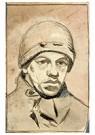Theo van Doesburg (1883-1931)  -  Zelfportret met muts, 1905 - Postkaart -  A103164-1