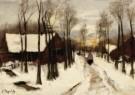 Arina Hugenholtz (1848-1934)  -  Sneeuw in Laren - Postkaart -  A10349-1