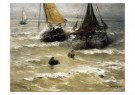 Hendrik W. Mesdag (1831-1915)  -  Klaar voor vertrek - Postkaart -  A10384-1