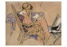 Otto van Rees (1888-1959)  -  Adya lezend in stoel - Postkaart -  A10391-1