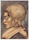 Theo van Doesburg (1883-1931)  -  Volendam Girl, 1906 - Postkaart -  A104025-1