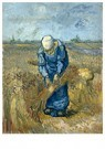 Vincent van Gogh (1853-1890)  -  Peasant woman binding sheaves (after Millet), 1889 - Postkaart -  A104046-1