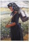 Jo Koster (1868-1944)  -  Staphorster meisje - Postkaart -  A10429-1
