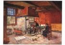 Jo Koster (1868-1944)  -  Staphorster interieur - Postkaart -  A10430-1