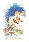 A.N.B.  -  Twee vogels op een tak in een winterlandschap - Postkaart -  A104394-1