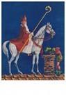 Anonymus  -  Sinterklaas met zwarte piet op het dak - Postkaart -  A104453-1