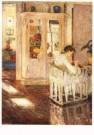 Gotthardt Kuehl (1850-1915)  -  Nahendes Madchen - Postkaart -  A10447-1