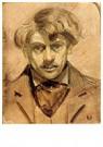 Theo van Doesburg (1883-1931)  -  Zelfportret, 1905 - Postkaart -  A104538-1