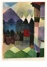 Paul Klee (1879-1940)  -  Föhn in Marc's Garden, 1915 - Postkaart -  A104543-1