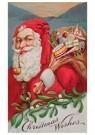 Anonymus  -  Kerstman met een zak cadeaus - Postkaart -  A104557-1