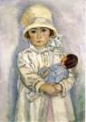 Jan Sluijters (1881-1957)  -  Meisje met pop (detail) - Postkaart -  A10482-1