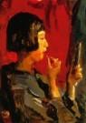 Isaac Israels (1865-1934)  -  japans meisje detail - Postkaart -  A10486-1