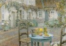Henri le Sidaner (1862-1939)  -  Blauwe tafel detail - Postkaart -  A10489-1