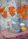 Rijn, van, Nico 1887-1962  -  Boeket in een vaas (detail) - Postkaart -  A10490-1