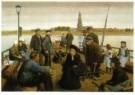 F. Hart Nibbrig (1866-1915)  -  Het pontveer - Postkaart -  A10525-1