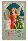 Anonymus  -  Kerstengel met een kerstboom - Postkaart -  A105456-1