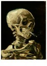 Vincent van Gogh (1853-1890)  -  Head of a skeleton with a burning cigarette, 1886 - Postkaart -  A105556-1