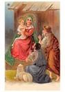 Anonymus  -  Herders aanbidden Maria en Jezus - Postkaart -  A105747-1