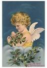 Anonymus  -  Kerstengel met takken in haar hand - Postkaart -  A105904-1