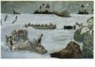 Harald Vlugt (1957)  -  Branding de zee - Postkaart -  A10592-1