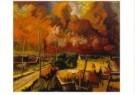 Henk Chabot (1894-1949)  -  Brand van Rotterdam - Postkaart -  A10609-1