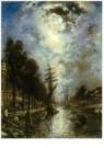 Johan B. Jongkind (1819-1891)  -  Canal a Rotterdam - Postkaart -  A10650-1