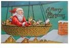 Anonymus  -  Kerstman met cadeaus in luchtballon - Postkaart -  A106584-1