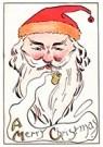 Anonymus  -  Kerstman rookt een pijp - Postkaart -  A106787-1