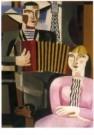 Gustave Desmet (1877-1943)  -  De harmonicaspeler - Postkaart -  A10714-1