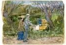 Jan Th.Toorop (1858-1928)  -  Paul en Mies kinderwagen - Postkaart -  A10728-1