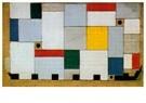 Theo van Doesburg (1883-1931)  -  Kleurontwerp voor het plafond van de Café-brasserie, 1927 - Postkaart -  A107537-1